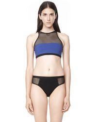Alexander Wang Mesh Combo Racerback Bikini Top multicolor - Lyst
