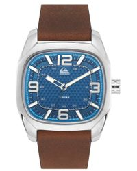Quiksilver - 'the Bruiser' Leather Strap Watch - Lyst