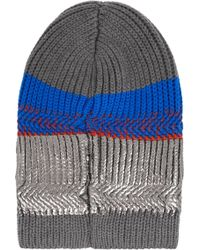 Eleven Everything - + Metallic Striped Merino Wool Beanie - Lyst