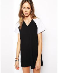 The Fifth Drop The Game T-Shirt Dress black - Lyst