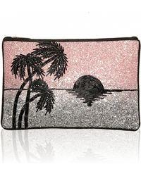 Matthew Williamson Tropical Sunset Glitter Clutch Bag - Lyst