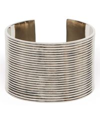 Ralph Lauren Deco Style Ribbed Metal Cuff - Lyst