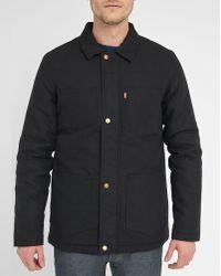 Levi's | Black Utility Pr Padded Jacket | Lyst