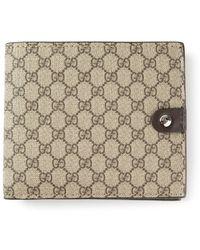 Gucci Signature Monogram Wallet - Lyst