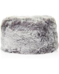 Topshop Luxe Faux Fur Cossack - Lyst