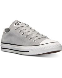 Converse Womens Chuck Taylor Ox Suede Casual Sneakers From Finish Line - Lyst