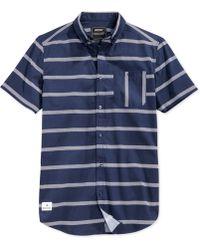 Wesc Avon Slim-Fit Shirt blue - Lyst