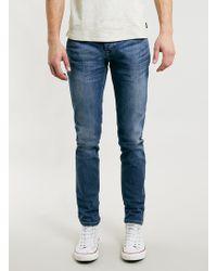 Topman Mid Wash Stretch Skinny Jeans - Lyst