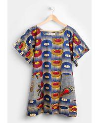 MZ Wallace Royal Jelly Harlem Dress Mixed Prints blue - Lyst