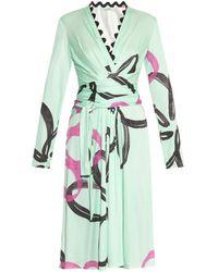 Issa Penelope Floral-Print Silk-Blend Dress - Lyst