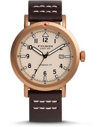 Filson - 45.5mm Scout Watch With Leather Strap - Lyst
