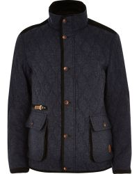 River Island Navy Tokyo Laundry Quilted Jacket - Lyst