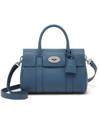 Mulberry Small Bayswater Satchel blue - Lyst