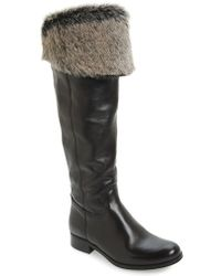 Summit - Ricci Faux-Fur-Cuff Leather Boots - Lyst