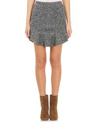 Isabel Marant Bouclé Drye Mini Skirt black - Lyst