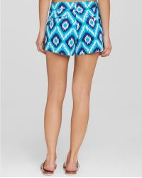 Macbeth Collection - Ikat Swim Cover Up Shorts - Lyst