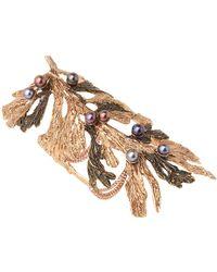 Dominique Lucas - Juniper Two Tone Bronze Cuff Bracelet - Lyst