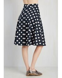 Rock Steady/steady Clothing In - Bugle Boogie Skirt In Navy Dots - Lyst