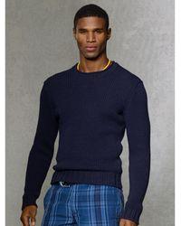 Polo Ralph Lauren Cotton-linen Roll-neck Sweater - Lyst
