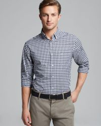 Lacoste Gingham Sport Shirt Regular Fit - Lyst
