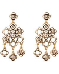 Oscar de la Renta Swarovski Crystal Mosaico Chandelier Earrings - Lyst