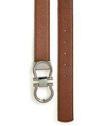 Ferragamo Muflone Adjustable & Reversible Double Gancini Belt brown - Lyst