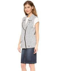 Addison - Alexa Tweed Moto Vest - Lyst