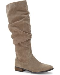 Steve Madden Taupe Tangy Boots - Lyst