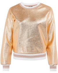 Raoul - Gold Metallic Foil Sweatshirt - Lyst
