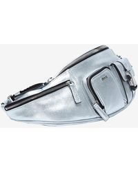 Emilio Pucci - Silver Metallic Leather Fanny Pack - Lyst