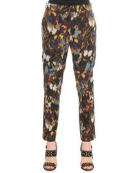 Valentino Abstract Painted Feather Pants - Lyst