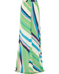 Issa Printed Jersey Maxi Skirt - Lyst