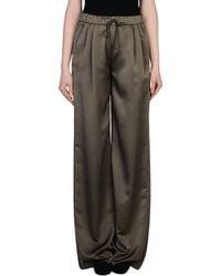 Max Mara Studio Casual Trouser gray - Lyst