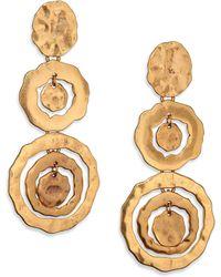 Oscar de la Renta Circle Triple-Drop Earrings - Lyst