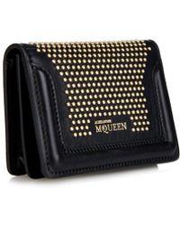 Alexander McQueen Heroine Studded Leather Cardholder - Lyst