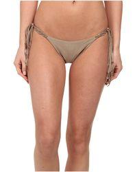 ViX Solid Shitake Tri Macramé Tie Full Bottom - Lyst