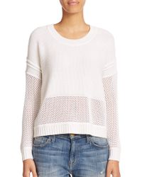 Splendid Micato Mesh-Detail Sweater - Lyst