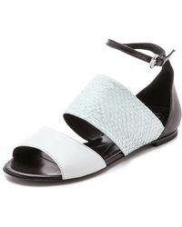 McQ by Alexander McQueen Erin Flat Strap Sandals - Off White - Lyst