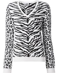 Moschino Cheap & Chic Animal Intarsia-Knit Sweater - Lyst