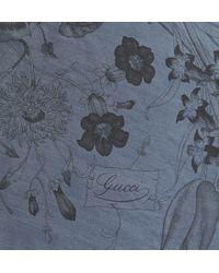 Gucci Printed Silkfaille Scarf - Lyst