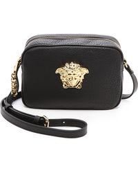 Versace Leather Cross Body Bag  Blackgold - Lyst