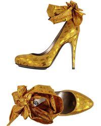 Lanvin Pump yellow - Lyst