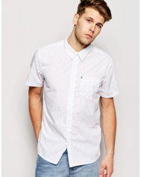 Bench - Short Sleeve Chevron Shirt - Lyst