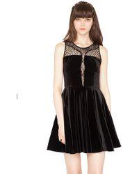 Pixie Market Velvet Underground Dress - Lyst