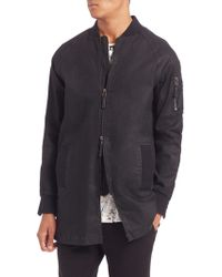 Madison Supply | Long Bomber Jacket | Lyst