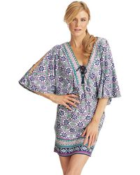 Nanette Lepore Mallorca Mosaic Swim Tunic Cover Up - Lyst