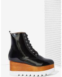 Nasty Gal Kreppel Leather Platform Boot - Lyst