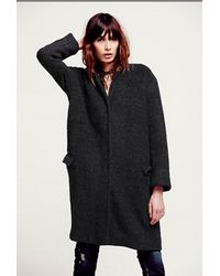 Free People Solid Cocoon Wool Co - Lyst