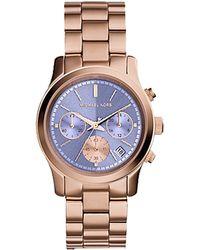 Michael Kors Runway Rose Gold Watch - Lyst