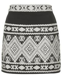 Topshop Cut-Out Back Blanket Skirt - Lyst